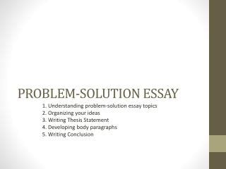Problem Solution Essay shaunhiew